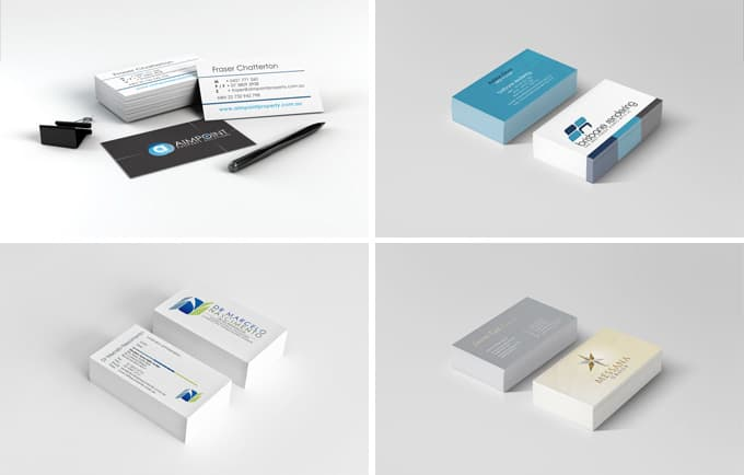 4 business cards