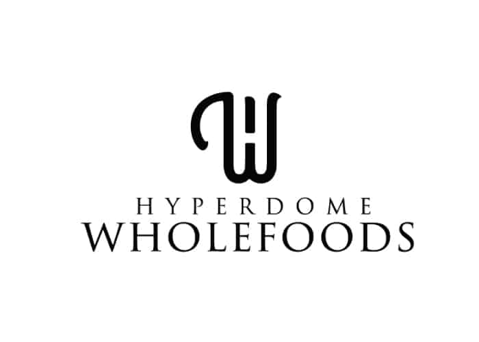 Hyperdome Wholefoods Logo design by Daniel Sim