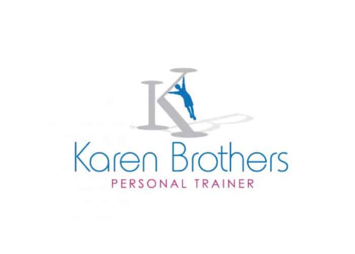 Karen Brothers Personal Trainer Logo design by Daniel Sim