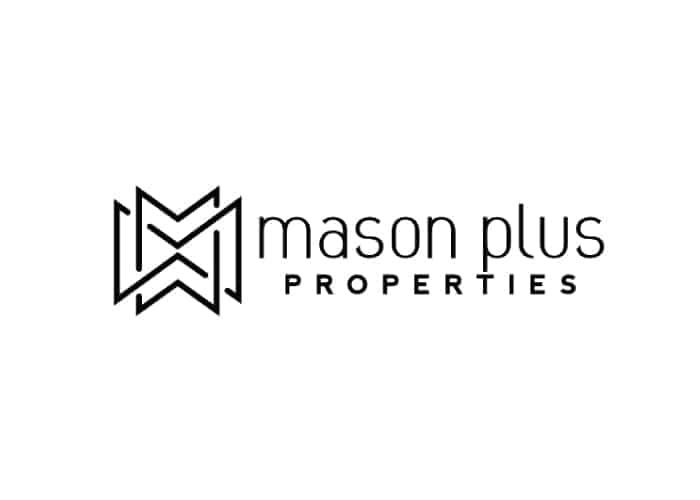 Mason Plus Properties Logo Design by Daniel Sim