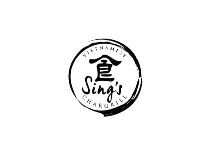 Sing's Vietnamese Chargrill Logo design by Daniel Sim